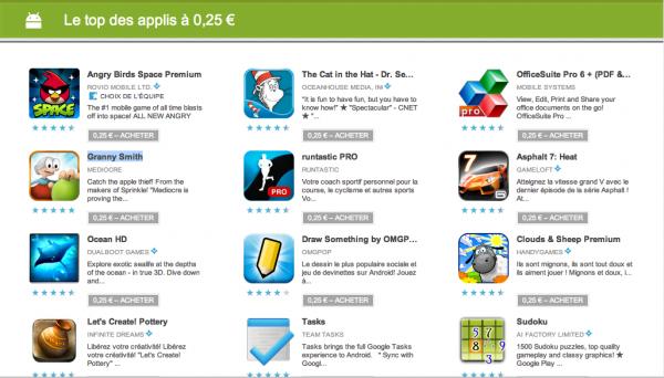 Google Play Promotions Apps et Jeux