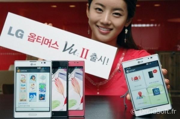 Optimus VU 2, LG Optimus Vu 2 en Corée !