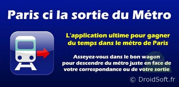 Paris ci la sortie du metro Android App