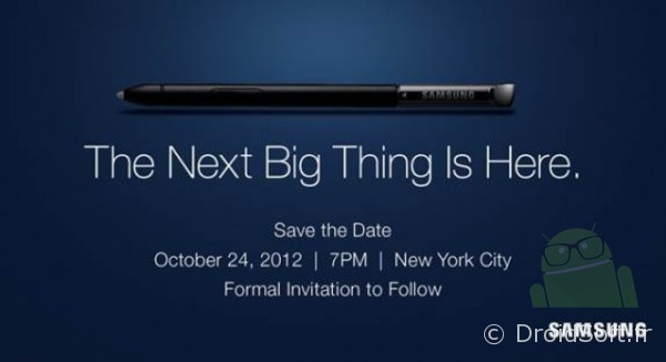 Samsung Evenement 24 octobre 2012 - Next Big Thing Note 2