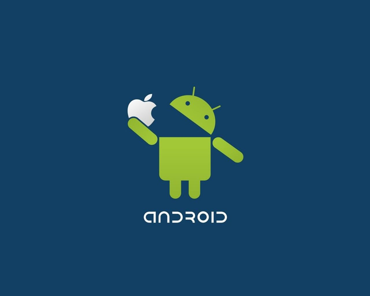 Droid Eating Apple, Le fond d'écran Android du jour : Droid Eating Apple