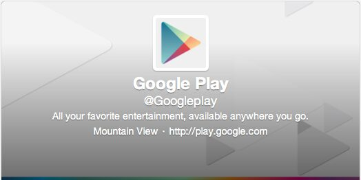 Google play Twitter