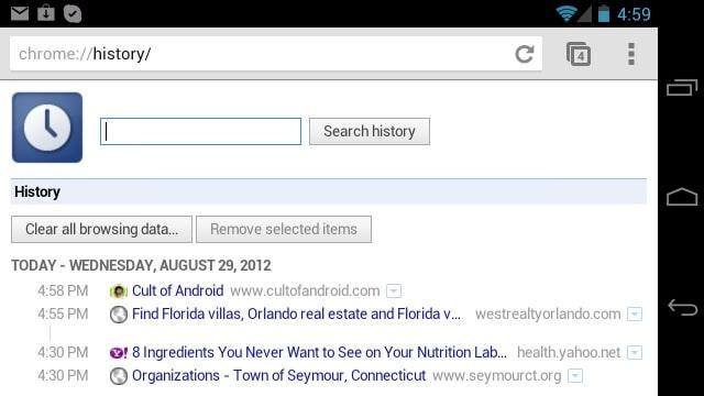 comment trouver l historique google