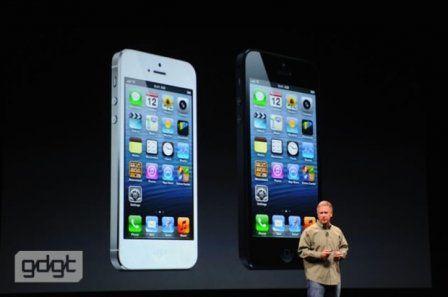 iPhone 5 présentation couleurs