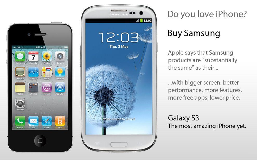 Samsung, Humour : Vous aimez l'iPhone ? Achetez un Samsung !