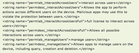 Android 4.2, Android 4.2 : la preuve du multi-compte par le code