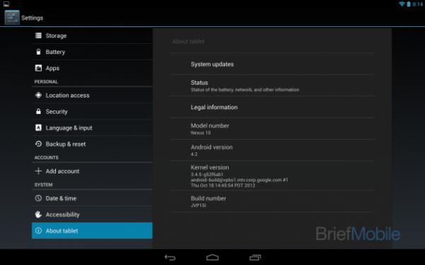 Nexus 10, Nexus 10 : premières photos de la tablette