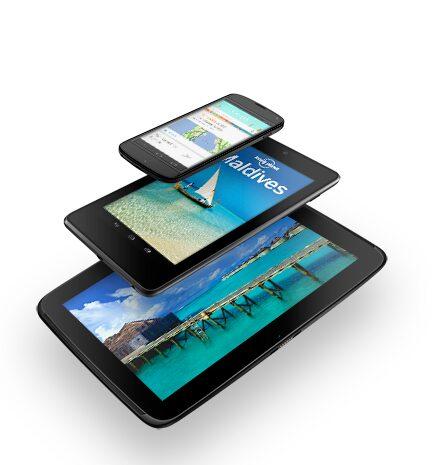Google Nexus, Nouvelle gamme Google Nexus : Nexus 4, Nexus 7 et Nexus 10