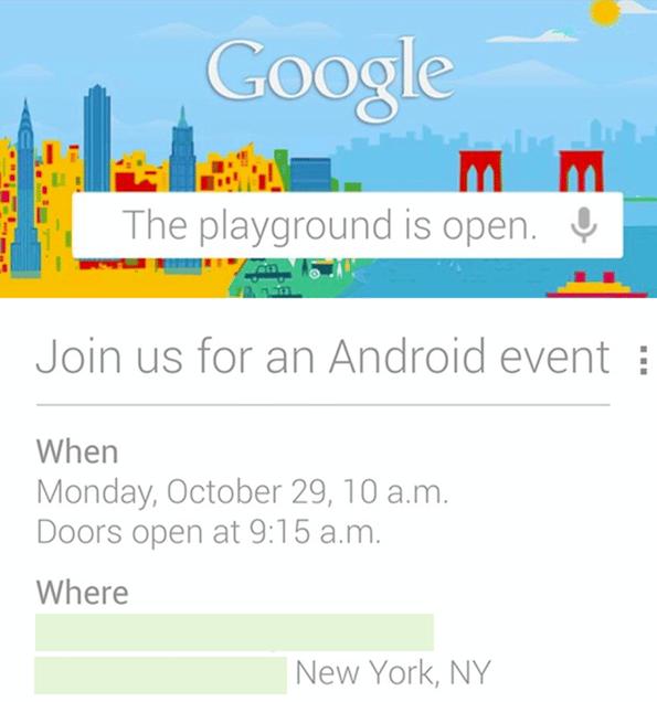 keynote Google, Une keynote Google le 29 octobre : Android 4.2 et nouveaux Nexus ?