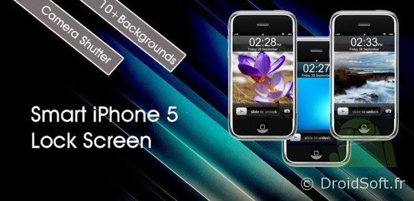 android theme smart iphone 5 lock screen