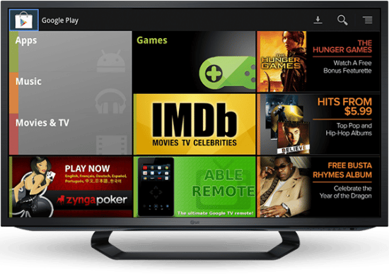 google tv annonce google play music video et tv shows
