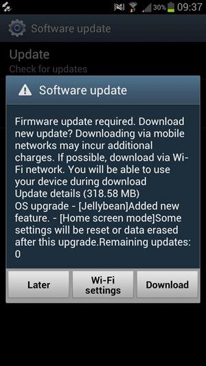 Galaxy S3 jelly bean, Comment mettre à jour votre Galaxy S III avec Jelly Bean 4.1
