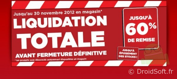 surcouf liquidation totale 60pourcent reduction