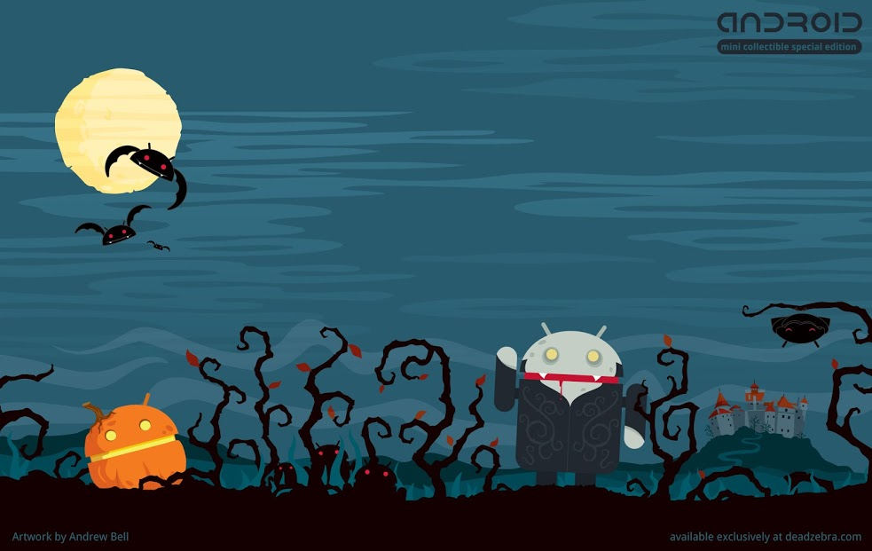 wallpaper android droid halloween