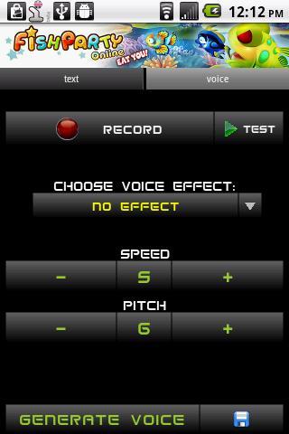 Changeur de voix android app