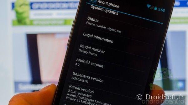 Galaxy Nexus 4.2, Android 4.2 sur Galaxy Nexus et Nexus 7