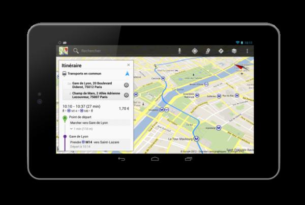 Google Transit - la ratp sur maps