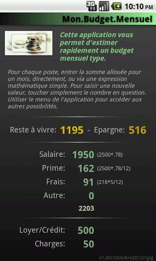 Mon Budget Mensuel Android