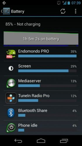 Test batterie Android 4.2 Jelly-Bean