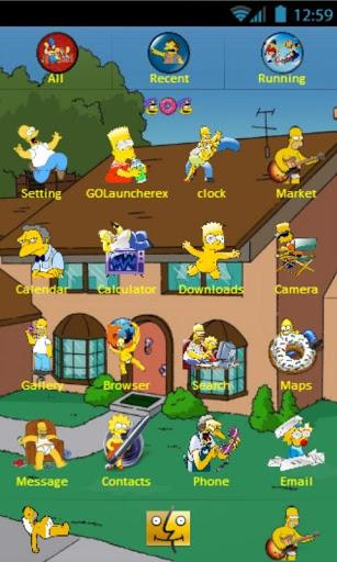 The Simpsons theme go launcher android
