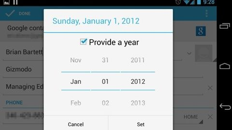 android 4.2 probleme date