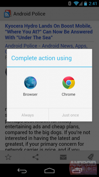 double tap android apps