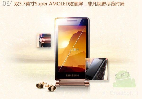 Samsung W2013, Samsung W2013 : un clapet et Jackie Chan