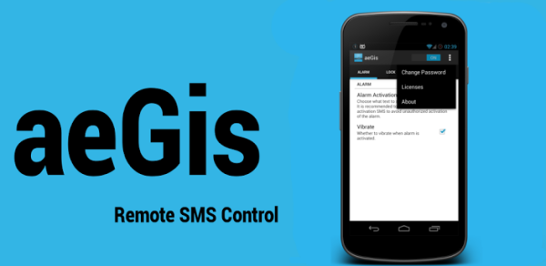 aegis bloquer smartphone android distance