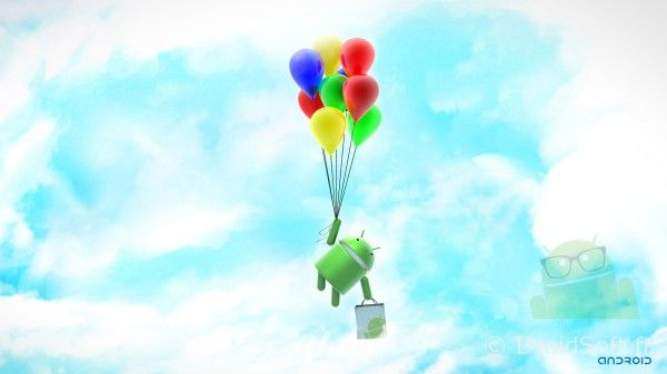 android wallpaper droid balloons