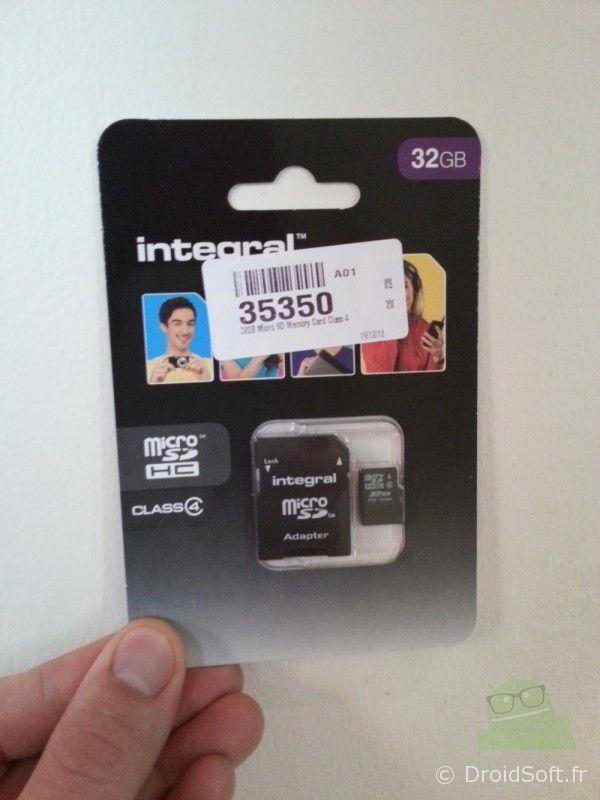 carte memoire microSD 32 go mobilefun