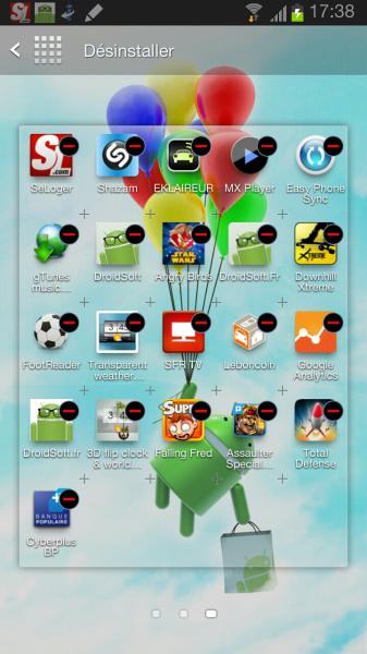desinstaller app android