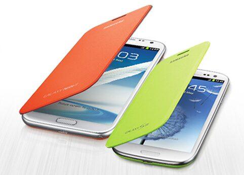 Flip Covers Note 2, Flip Covers couleurs pour Galaxy Note 2 et S3