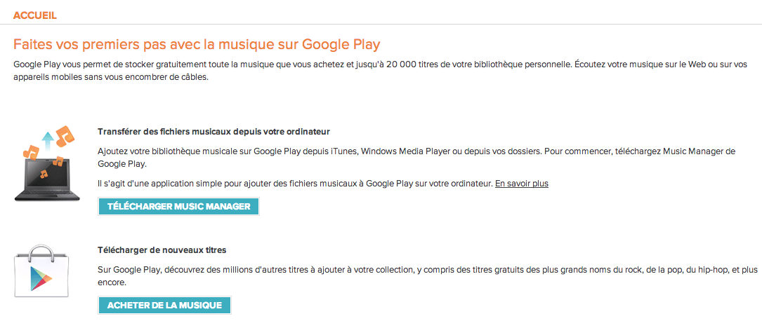 comment arreter google play music