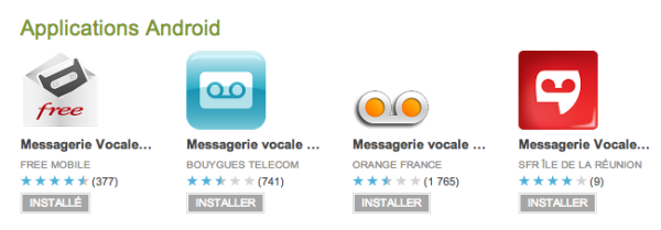 messagerie vocale visuelle android free orange sfr bouygues