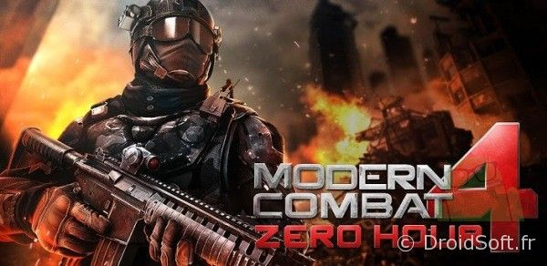 Modern Combat 4 android, Modern Combat 4 Zero Hour enfin sur Android