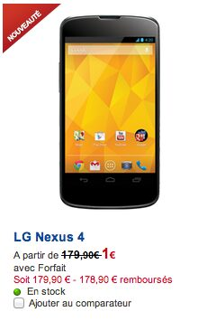 nexus 4 sfr