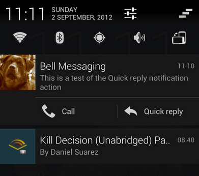 quick_reply android widget notification