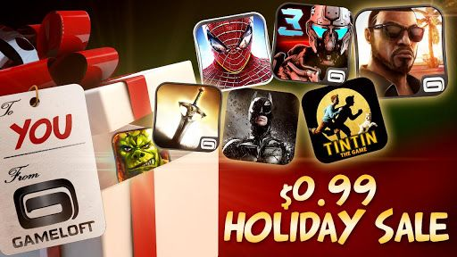 soldes noel gameloft android