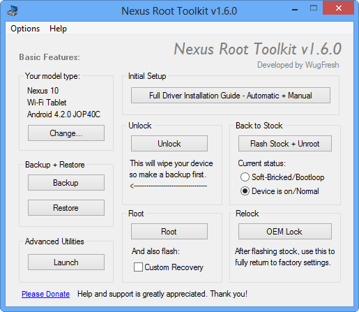Nexus Root Toolkit android root nexus