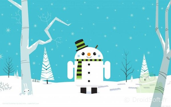 wallpaper Droid Snowman