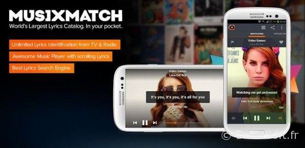 musiXmatch android app gratuite