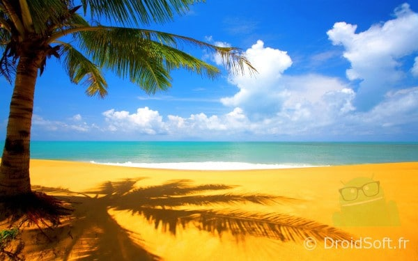plage wallpaper android paradis