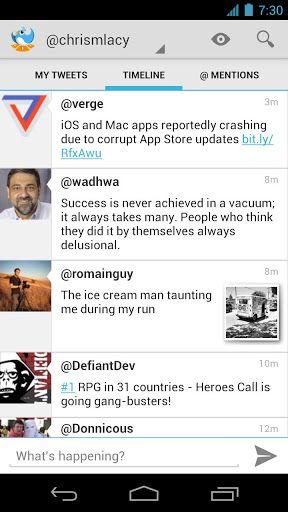 tweet lanes android app gratuite