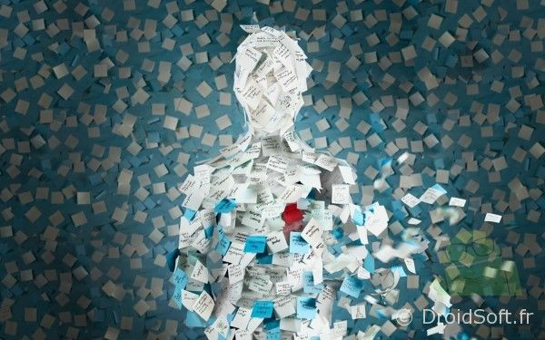 wallpaper post-it man android