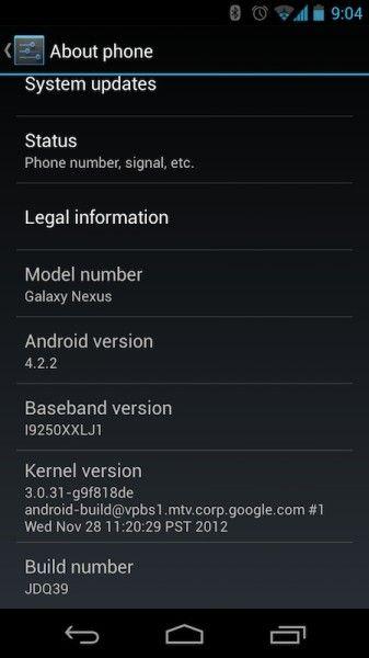 Android 4.2.2 Nexus 4