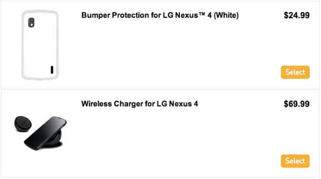 Bumper blanc Nexus 4