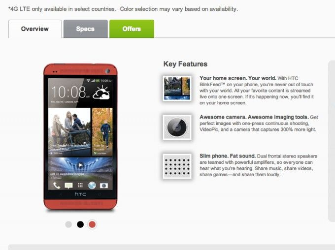 HTC One en rouge