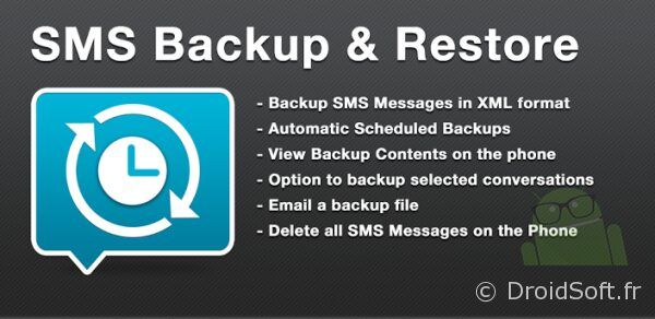 SMSBackupRestore android app gratuite
