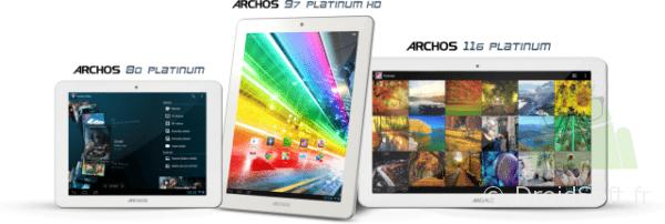 archos tablettes platinium