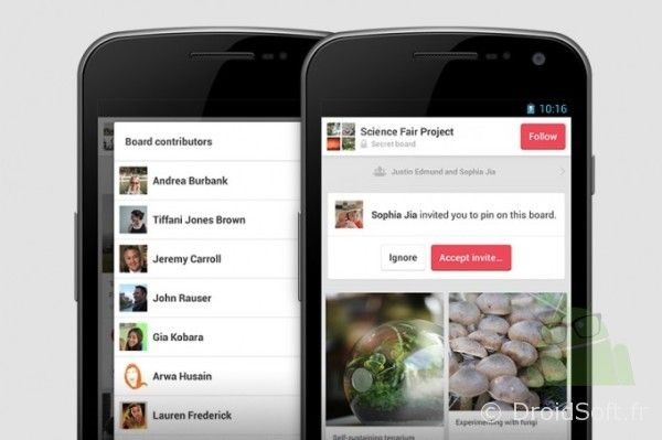 pinterest android update